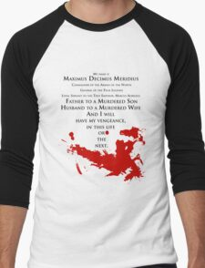 Gladiator - My name is Maximus Decimus Meridius... Men's Baseball ¾ T-Shirt