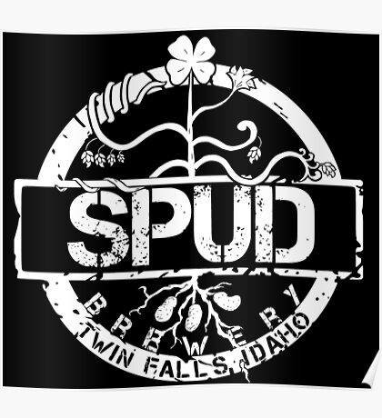 Spud Brewery - All White Poster