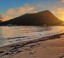 Shoal Bay Sunrise 2 Panoramic by bryanstalder
