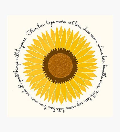 Proverb Sunflower Photographic Print