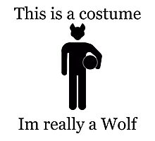 Im Really A Wolf Photographic Print