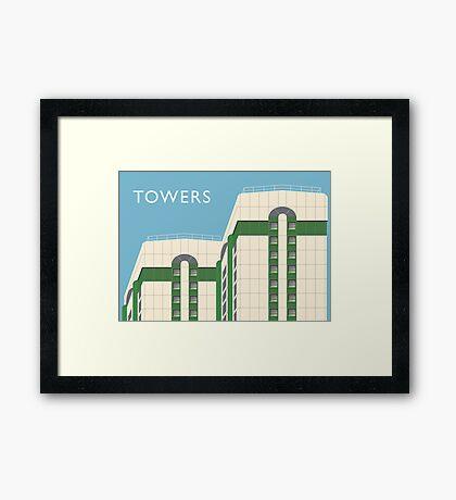 STOCKPORT - Lancashire Hill Flats Framed Print