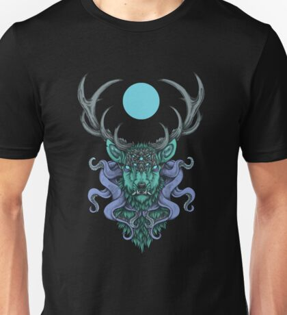Cthulhu-S-Stag-Blue-Moon Unisex T-Shirt