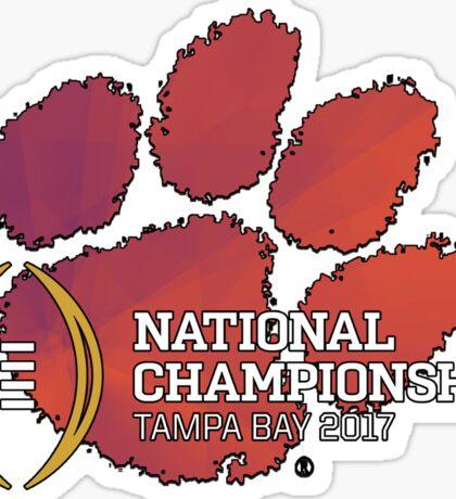 Clemson Tigers 2017 National Championship  Sticker