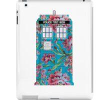 Floral Tardis 1 iPad Case/Skin