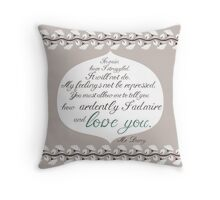 Mr Darcy to Miss Bennet Throw Pillow