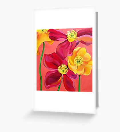 Red & Yellow Poppies Greeting Card