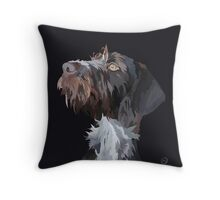German Wire Haired Pointer  Throw Pillow