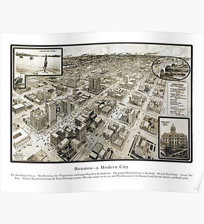 Houston - Texas - United States - 1912 Poster