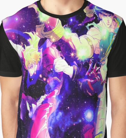 Dio & Jonathan In Space Graphic T-Shirt