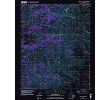 USGS TOPO Map California CA Cerro Colorado 100033 2000 24000 geo Inverted Photographic Print