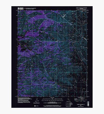 USGS TOPO Map California CA Cerro Colorado 100033 2000 24000 geo Inverted Photographic Print