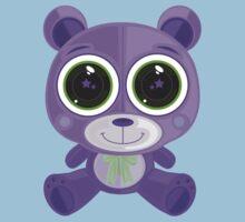 Teddy Bear - Star Eye Purple Kids Clothes