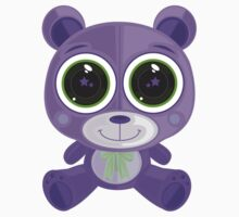 Teddy Bear - Star Eye Purple Kids Clothes