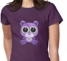 Teddy Bear - Star Eye Purple Womens Fitted T-Shirt