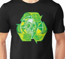 Earth Day Recycle Skull Symbol  Unisex T-Shirt