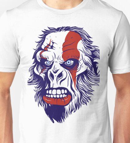 angry caveman war face Unisex T-Shirt