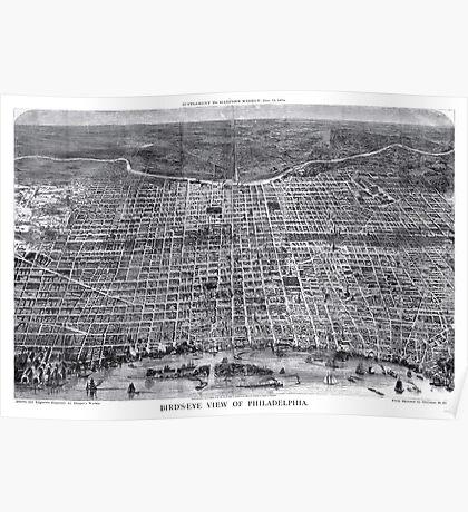 Philadelphia - Pennsylvania - United States - 1872 Poster