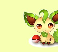 Leafeon .:Sunny Day:.  by Ambercatlucky2