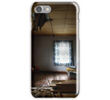 29.10.2014: Interior of Old, Abandoned Farm House iPhone Case/Skin