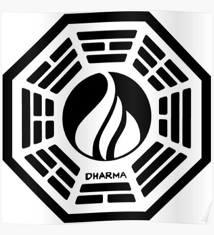 The Dharma Initiative - The Flame Station Poster