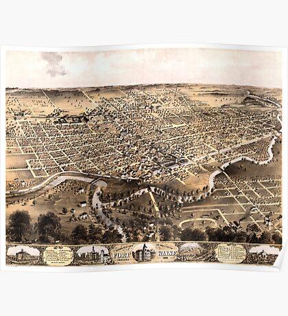 Fort Wayne - Indiana - 1868 Poster