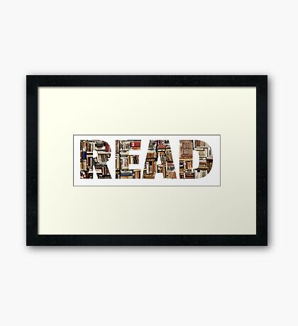 READ (with books image) Framed Print