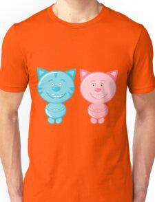 Pair of cute cats Unisex T-Shirt