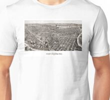 Perspective map of Fort Worth - 1891 Unisex T-Shirt