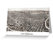 Perspective map of Fort Worth - 1891 Greeting Card