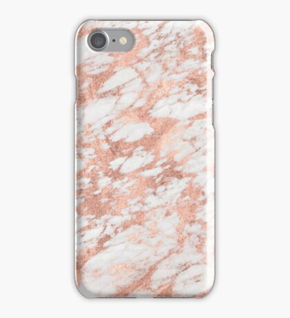 Solid rose gold marble  iPhone Case/Skin
