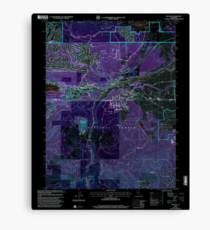 USGS TOPO Map California CA Truckee 102062 2000 24000 geo Inverted Canvas Print