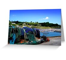 Harbour Life in Lyme Regis Greeting Card
