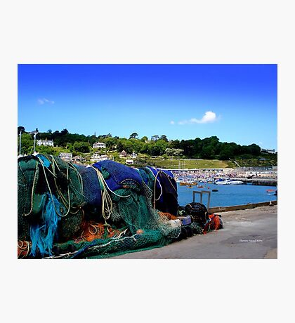 Harbour Life in Lyme Regis Photographic Print