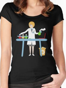 Scientist at work Women's Fitted Scoop T-Shirt