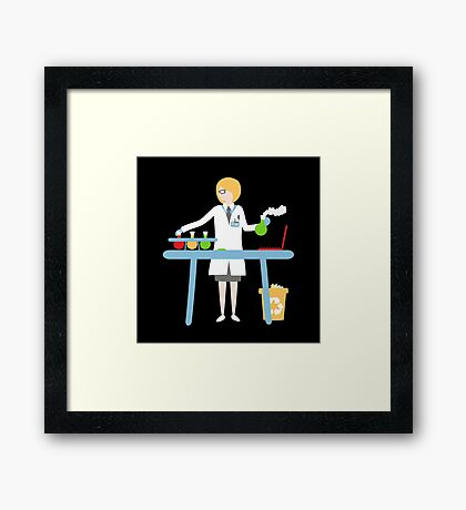 Scientist at work Framed Print