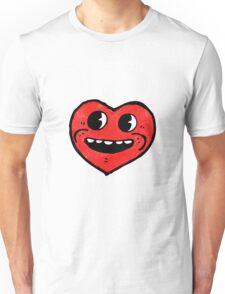 funny heart cartoon character Unisex T-Shirt