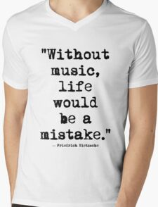Friedrich Nietzsche Music Mens V-Neck T-Shirt