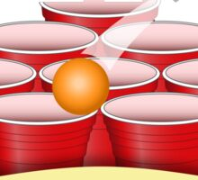 Beer Pong T-Shirt Sticker