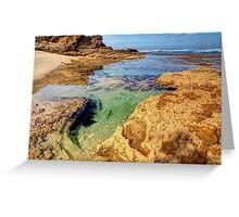 Indented Coast. Greeting Card