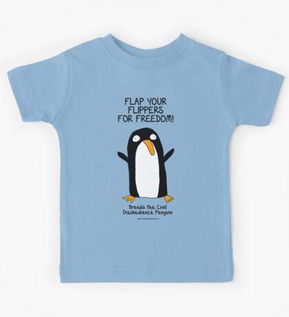 Brenda the Civil Disobedience Penguin Kids Tee