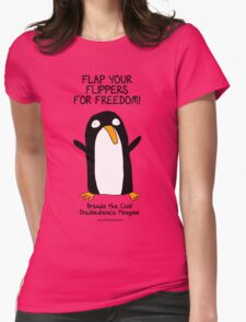 Brenda the Civil Disobedience Penguin Womens Fitted T-Shirt