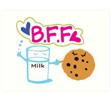 Milk and Choco chip  BFF Art Print