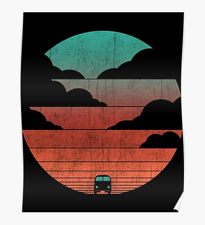 Driving Into The Sunset Poster