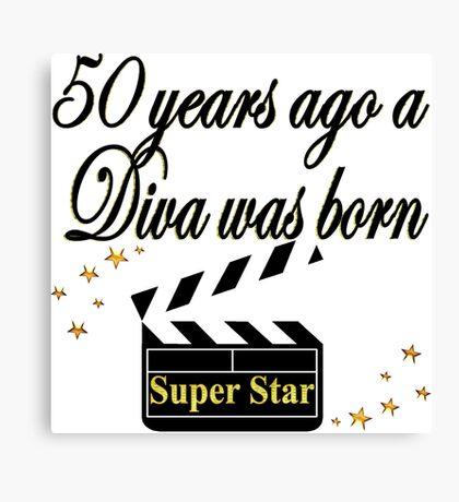 50TH BIRTHDAY MOVIE STAR DESIGN Canvas Print
