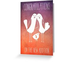 Congratulations on the New Addition Greeting Card