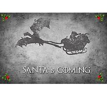 Game of Thrones Christmas Card: Santa is Coming (with Dragons) Photographic Print