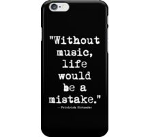 Friedrich Nietzsche Music White iPhone Case/Skin