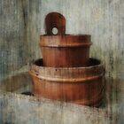 Still Life With Wooden Bucket  by Alexandra Lavizzari