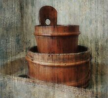 Still Life With Wooden Bucket  by Alexandra Lavizzari